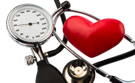Blood-pressure-meter-and-heart